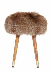 Onyx fox fur stool