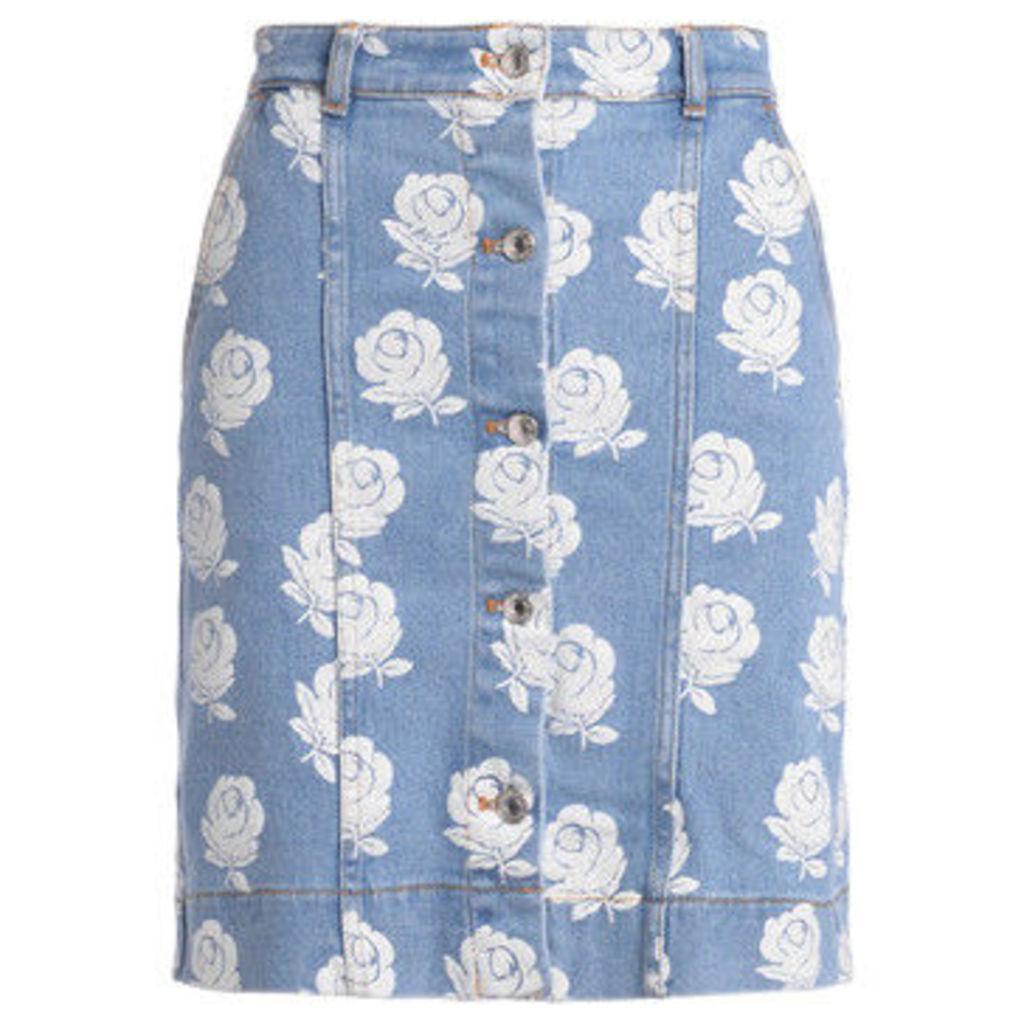 Kenzo  high waist skirt with floral print  women's Skirt in White