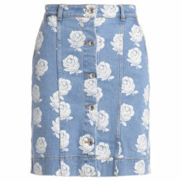 Kenzo  high waist skirt with floral print  women's Skirt in White