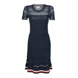 Tommy Hilfiger  VERINE SWTR DRESS SS  women's Dress in Blue