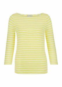 Striped Sonya Top Yellow White XL