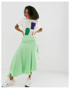 ASOS WHITE block colour ruched skirt