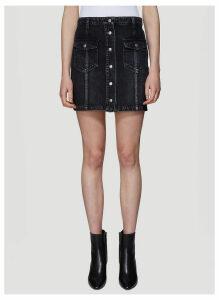 Saint Laurent Denim Skirt in Black size 29