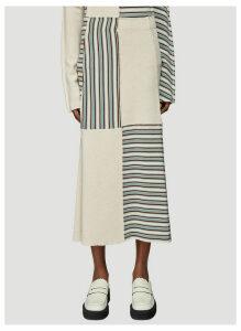 Jil Sander Patchwork Skirt in Beige size DE - 38