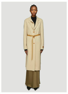 Helmut Lang Double Lapel Coat in Beige size XS