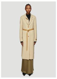 Helmut Lang Double Lapel Coat in Beige size L