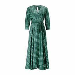 Weekend MaxMara Ravello Wrap Dress, Emerald