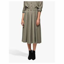 Selected Femme Adda Midi Skirt, Vetiver