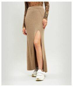 Paak Ribbed Cashmere-Blend Skirt