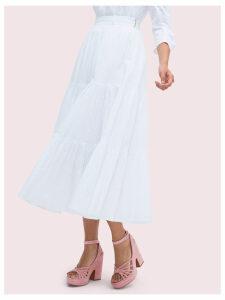 Poplin Tiered Midi Skirt - Fresh White - 8 (Us 4)