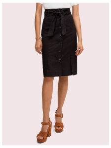 Button Pencil Skirt - Black - 4 (Us 0)