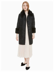Metallic Jacquard Coat - Black - 4 (Us 0)