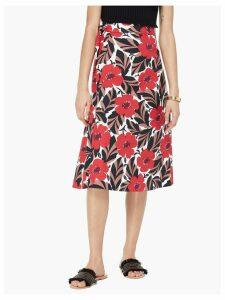 Poppy Field Wrap Skirt - Lingonberry - 6 (Us 2)