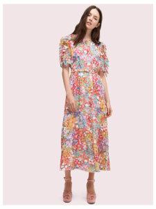 Floral Dots Ruffle Midi Dress - Multi - 8 (Us 4)