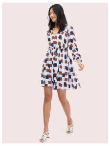 Geo Squares Mini Dress - Frozen Lilac - 12 (Us 8)
