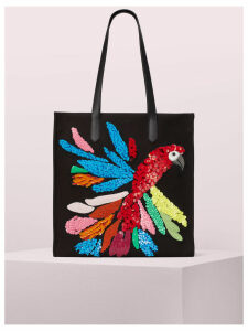 Kitt Embellished Extra Large North South Tote - Black Multi - One Size