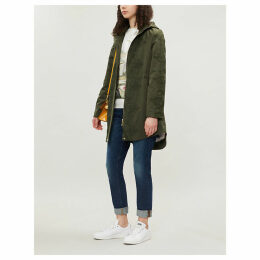 Luceen shell and lace parka coat