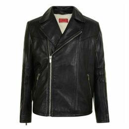 HUGO Leather Shearling Jacket