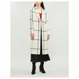 Soniq checked wool-blend coat
