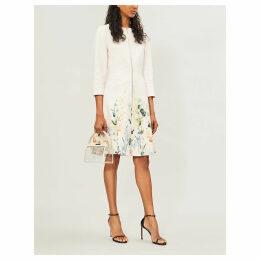 Luluuu floral-print cotton coat