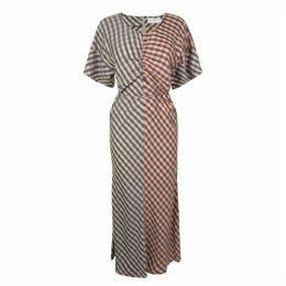 Boss Checked Short Sleeve Dress
