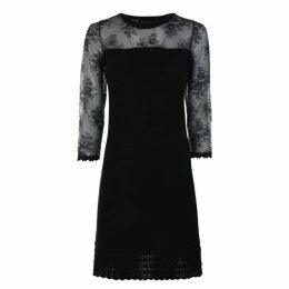 BOUTIQUE MOSCHINO Lace Long Sleeved Dress