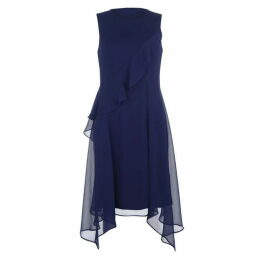 DKNY Chiffon Ruffle Dress