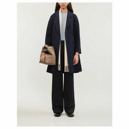 Aronaci double-breasted notch-lapel wool coat