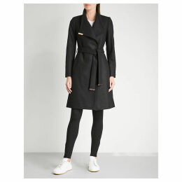 Sandra wool-blend wrap coat