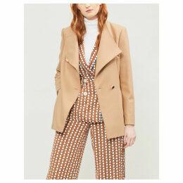 Rytaa high-neck wool-blend coat