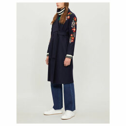 Sirenaa embroidered kimono-style coat