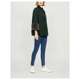 Rilly faux-fur trim wool-blend coat