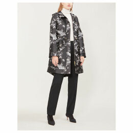 Orient-printed jacquard coat