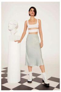 Get Your Sleek On Satin Bias Cut Skirt
