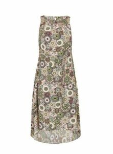 Neutral Paisley Print Sleeveless Dress, Dark Multi