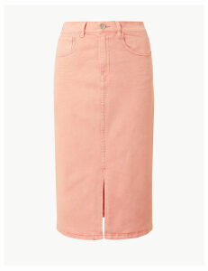 M&S Collection Authentic Split Front Denim Skirt