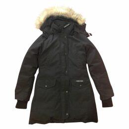 Black Polyester Coat Trillium