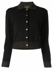 Fendi Pre-Owned long sleeve cardigan - Black