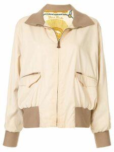 Hermès Pre-Owned Long Sleeve Zip Up Reversible Jacket - Neutrals