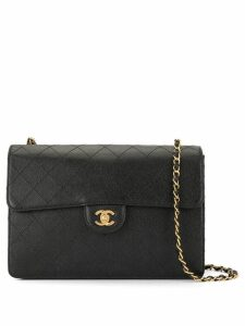 Chanel Pre-Owned 1994/00 diamond quilted chain shoulder bag - Black