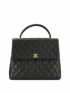 Chanel Pre-Owned 2002 diamond quilted tote - Black
