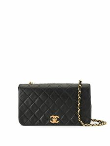 Chanel Pre-Owned '85-93s quilted chain shoulder bag - Black