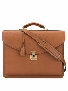 Gucci Pre-Owned Lady Lock 2way Business hand bag - Brown