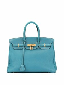 Hermès Pre-Owned Birkin 35 hand bag - Blue