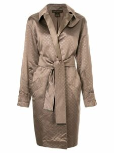 Louis Vuitton Pre-Owned jacquard monogram coat - Brown