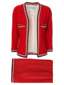 Chanel Pre-Owned setup suit jacket skirt - Red
