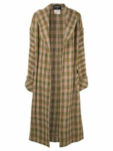 Chanel Pre-Owned long sleeve jacket gown coat - Brown