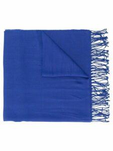 Giorgio Armani Pre-Owned 1990's fringed scarf - Blue