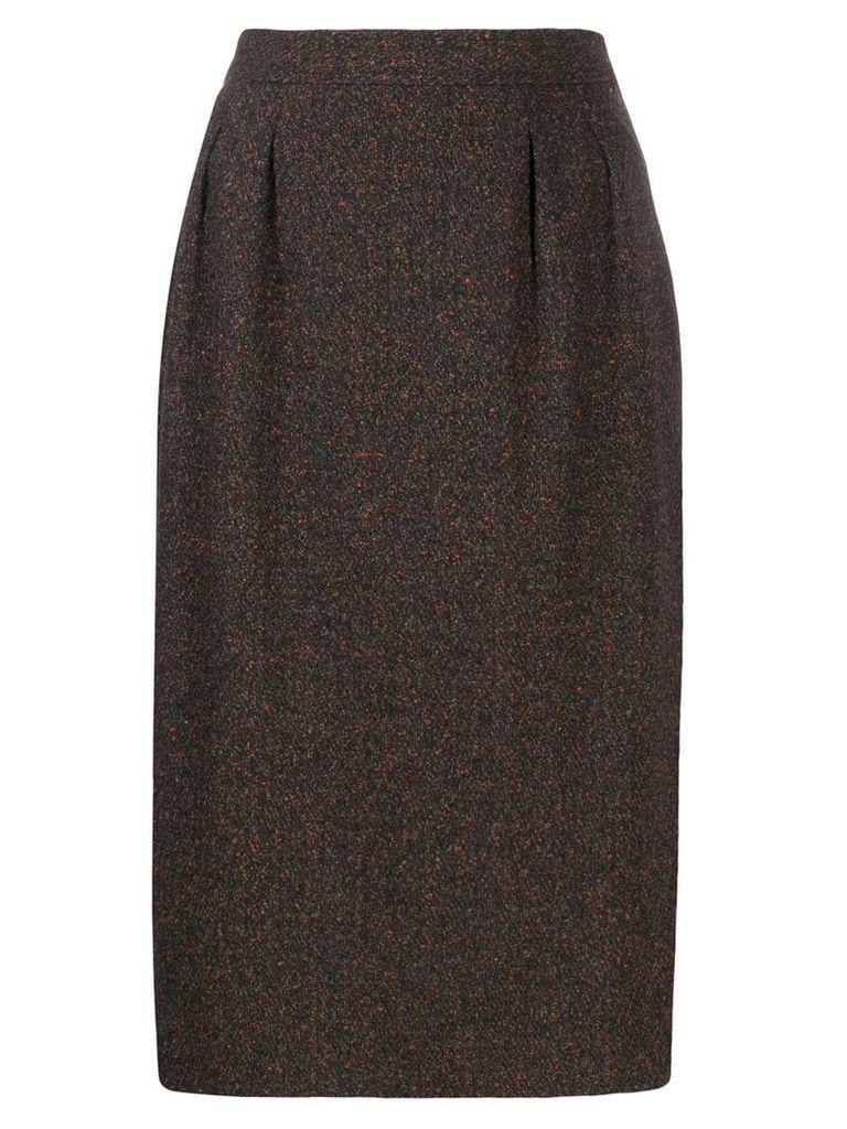Yves Saint Laurent Pre-Owned 1980's midi skirt - Brown