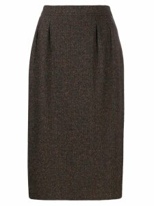 Yves Saint Laurent Pre-Owned 1980's midi skirt - Brown